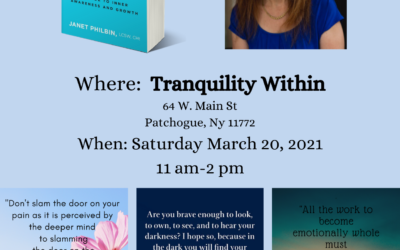 Come to a book signing event. Meet Janet and get a copy of her best selling book, Show Up For Yourself.