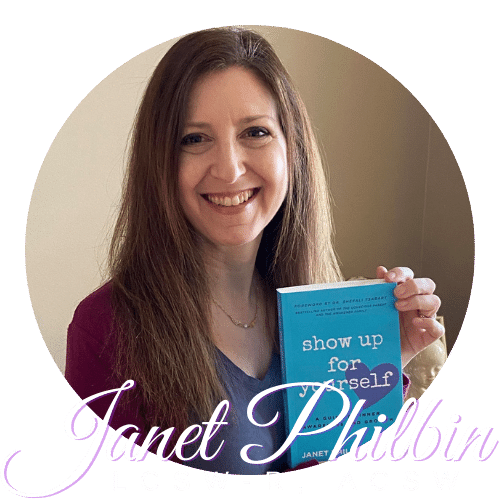 Janet Philbin with logo